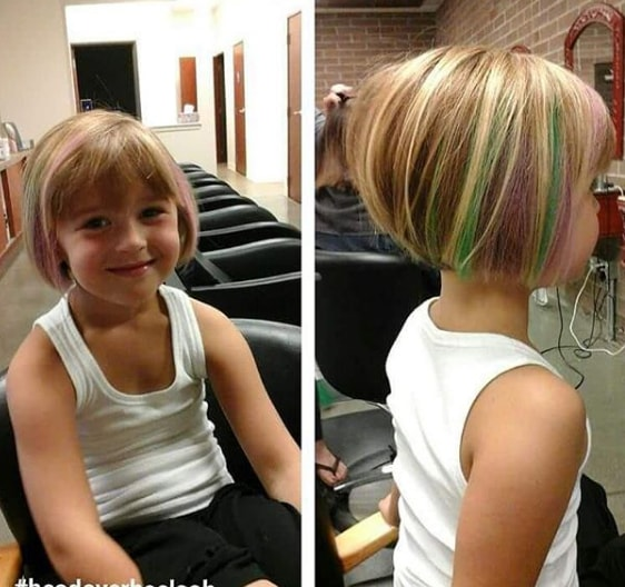 Funky Bob Hairstyle for Little Girl