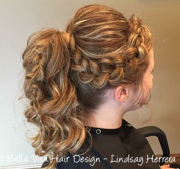 Curly Ponytail With A Headband