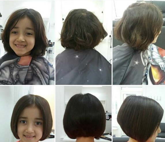 Center Parted Bob Hairstyle