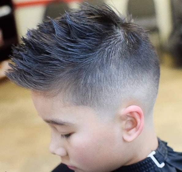 Faux Hawk With Mid Fade