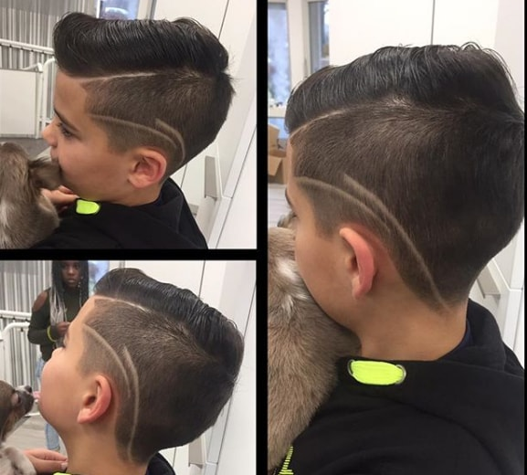 Pompadour Hairstyle With Surgical Design