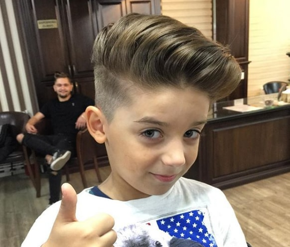 Quiff Hairstyle - Little Boy Haircuts 2018
