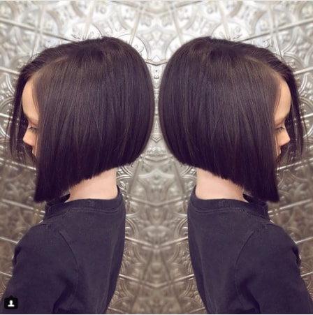 A Line Bob Hairstyle for Little Cute Girl