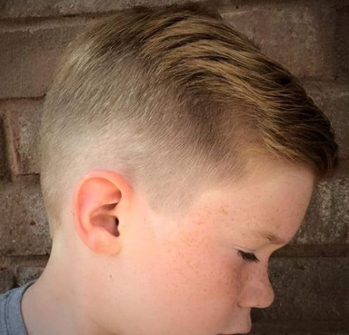 Side Swept With High Fade