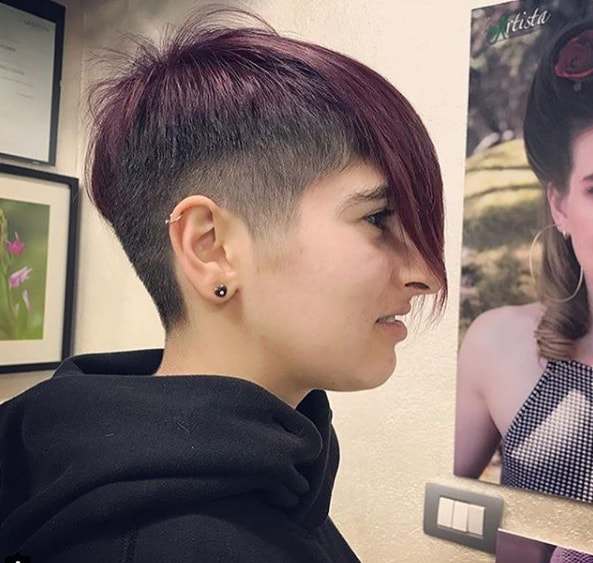 Bob Haircut With Shaved Sides
