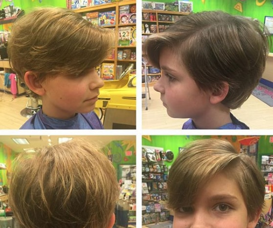 Side Parted Boys Haircut