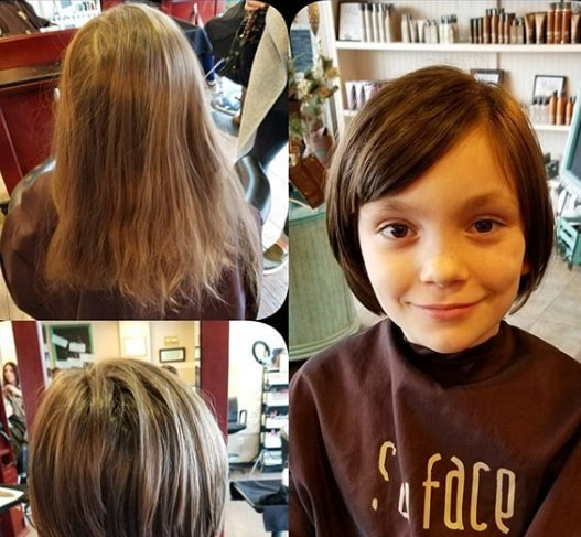 Side Parted Bob Hairstyle