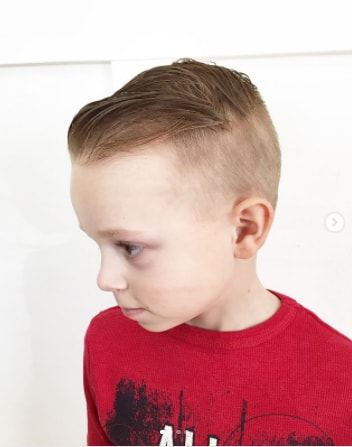 Short Combed Back Hair