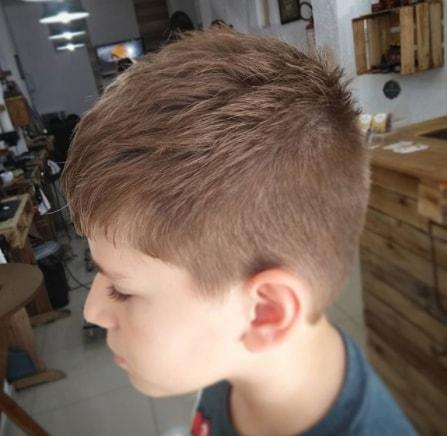 Textured Forward Swept Hair