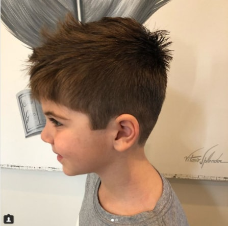 Casual Forward Swept Hairstyle