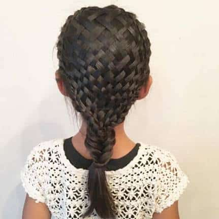 Fishtail Braid Hairstyle With Intricate Pattern