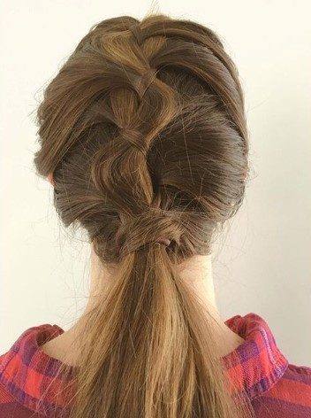 Long Wide Braid With Ponytail