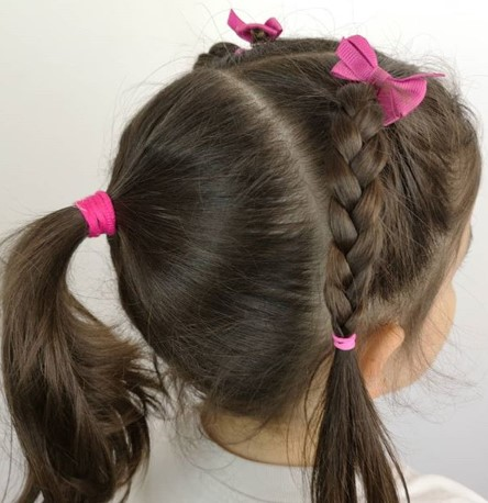 Tightly Knotted Braided Ponytail