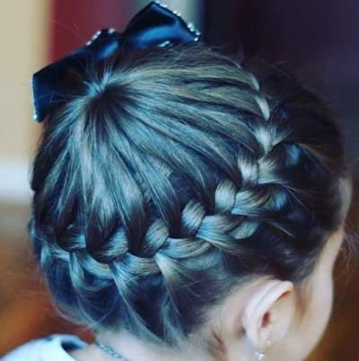 Hair Design With Swirling Braids