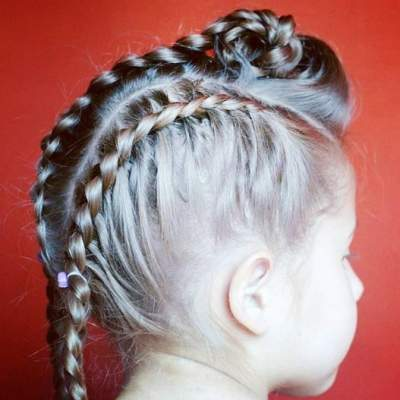 Side Parted Hairstyle With Unique Braided Hair Design