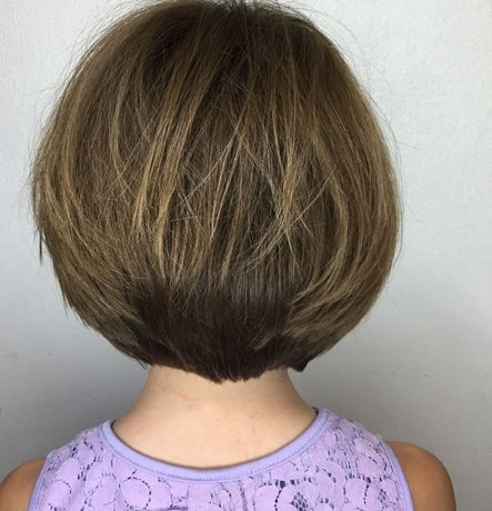 Side Swept Bob With Outward Tips
