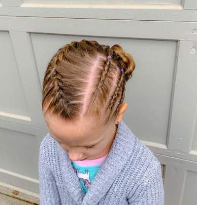 Side Parted Hairstyle With Braided Design