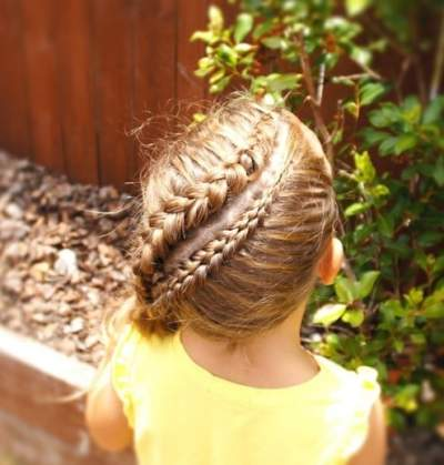 Swirling Part And Braids With Ponytail