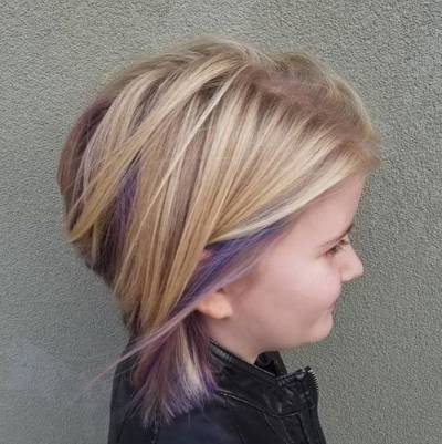 Layered Hair Design With Highlights
