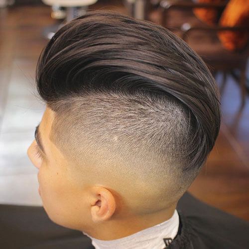 Long Slicked Back Top With Undercut Fade