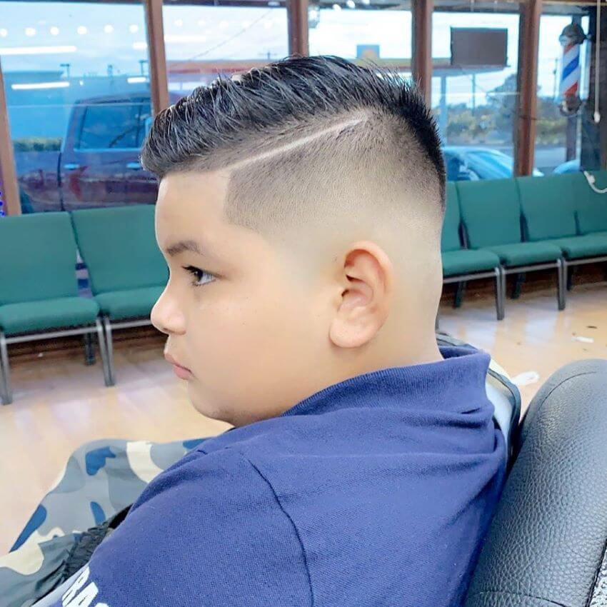 Short And Textured Hairstyle With High Fade