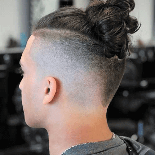 V-shaped Undercut With Casual Bun