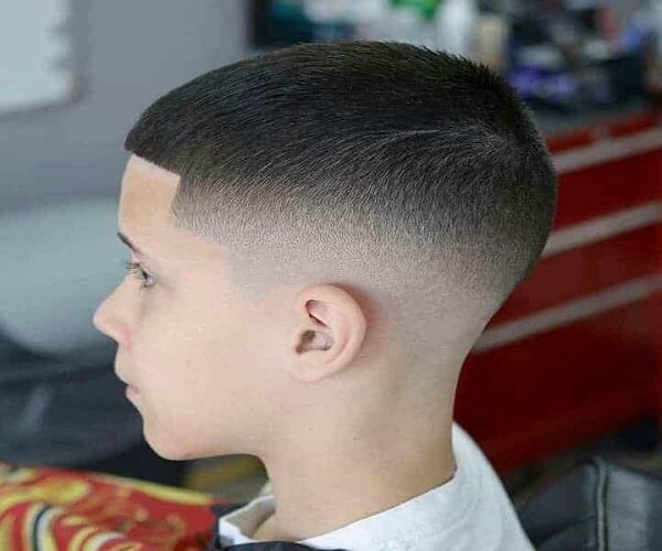 Buzz Cut And Tapered Fade