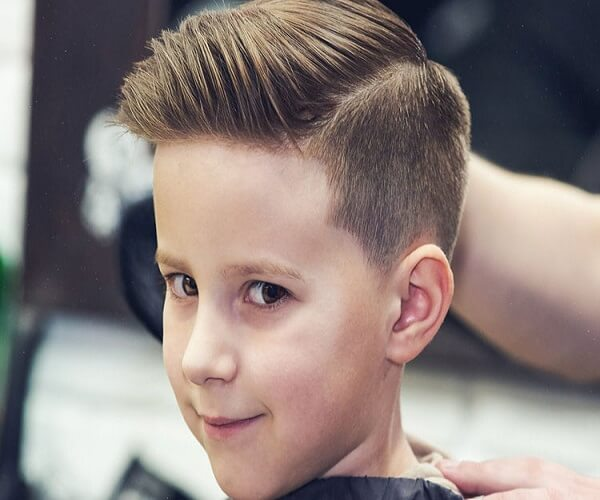 Side Brushed Layered Haircut