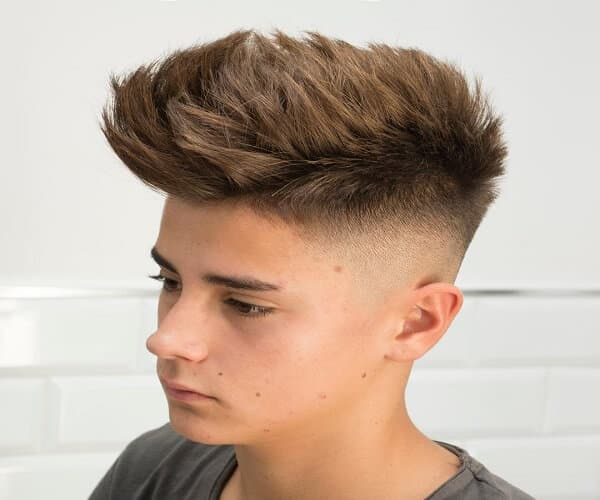 Textured Top With Skin Fade
