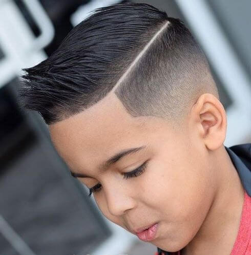 Spiky Hairstyle With A Low Fade
