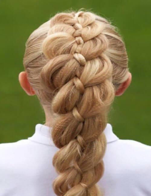 4-Strand Braided Hairstyle