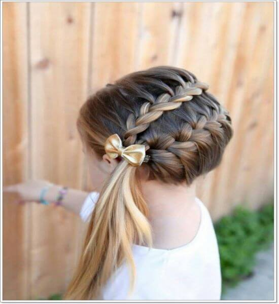 Double Circular Braid With Side Ponytail