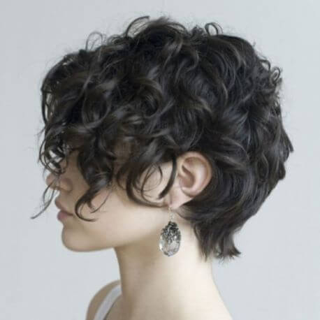 Curly And Messy Short Bob