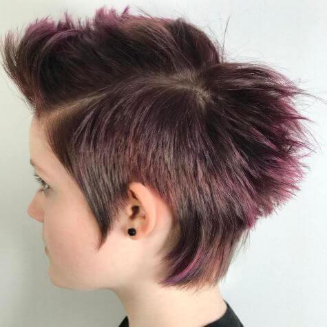 Modern Purple Mullet