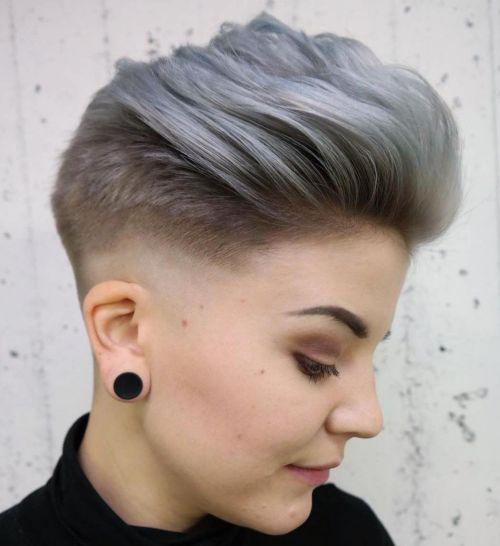 Silver Pixie Quiff