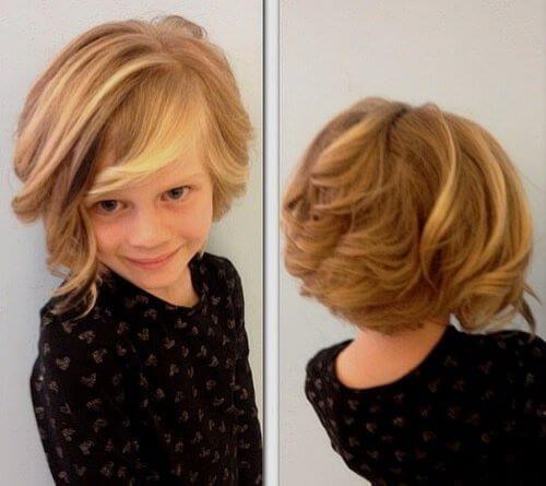 Bob Haircut With Wavy Fringe