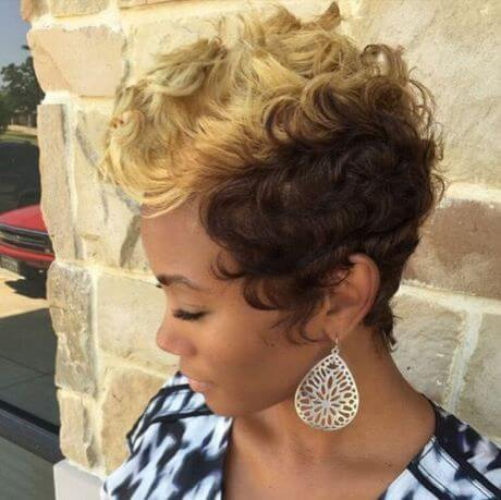 Two-Toned Curly Hairstyle