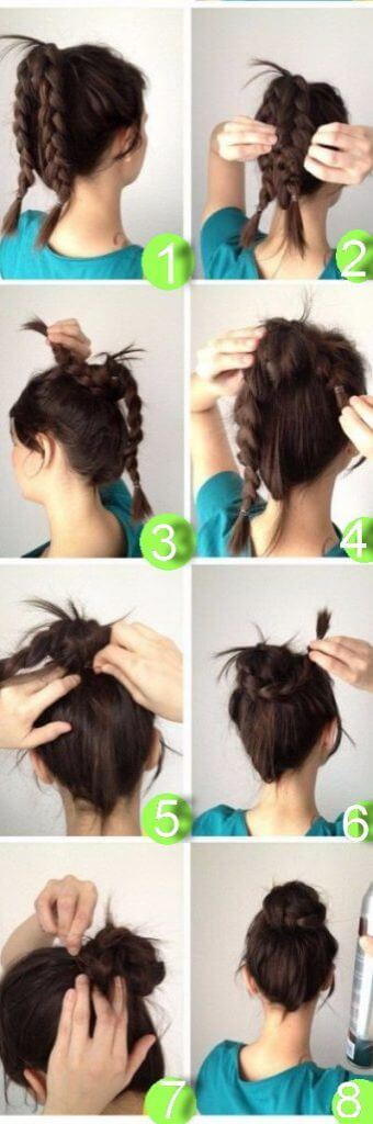 10-Minute Easy Braided Bun