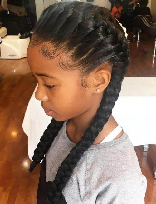 French-Braided Hairstyle