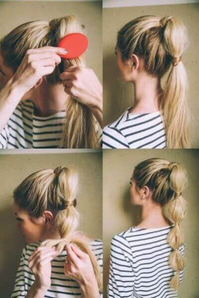 Quick Bubble Ponytail