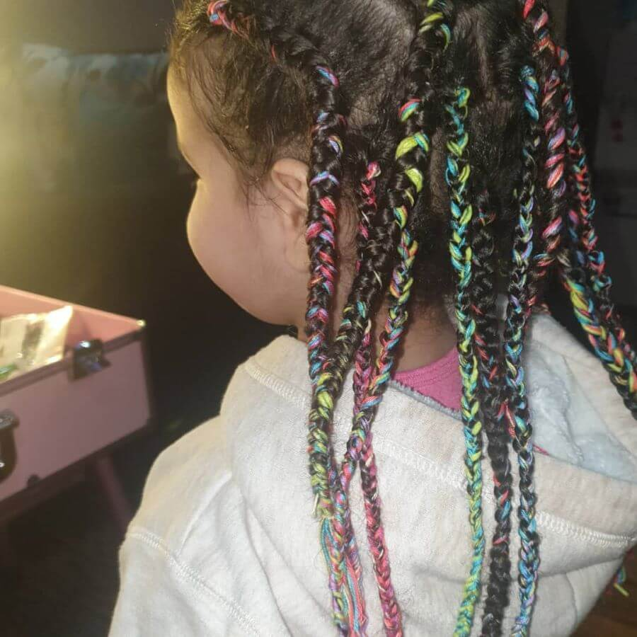 Colorful Cornrows Braids