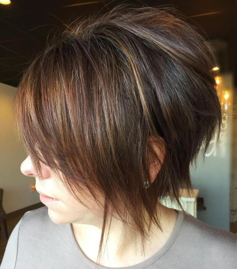 Feathered Long Pixie Haircut