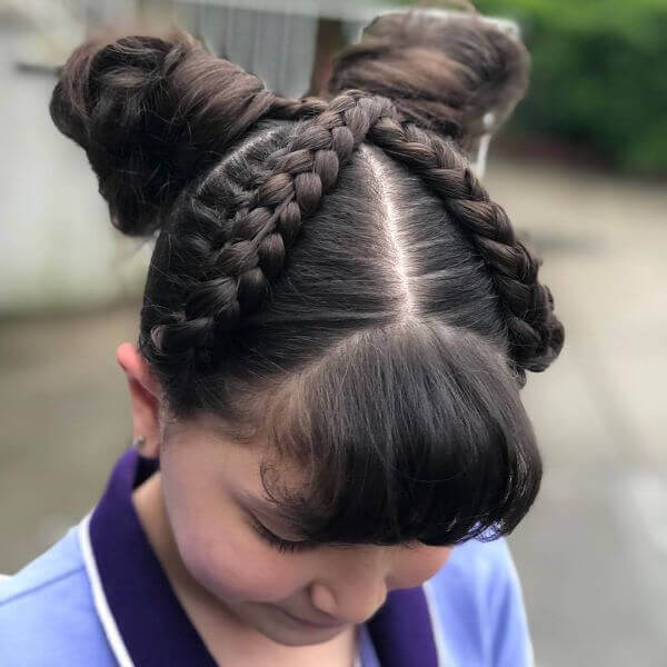 Braided Top With Pigtails