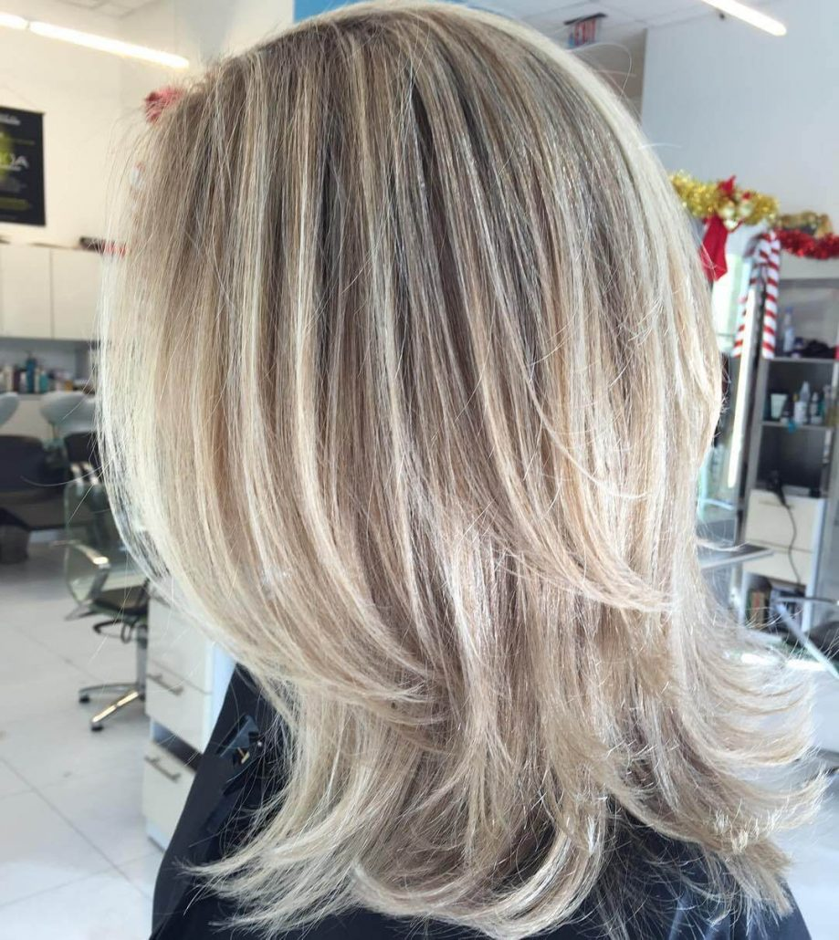 Layered Blonde Hairstyle
