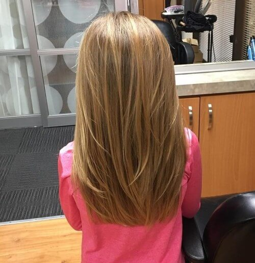 Long Blunt Haircut With Cool Surface Layers