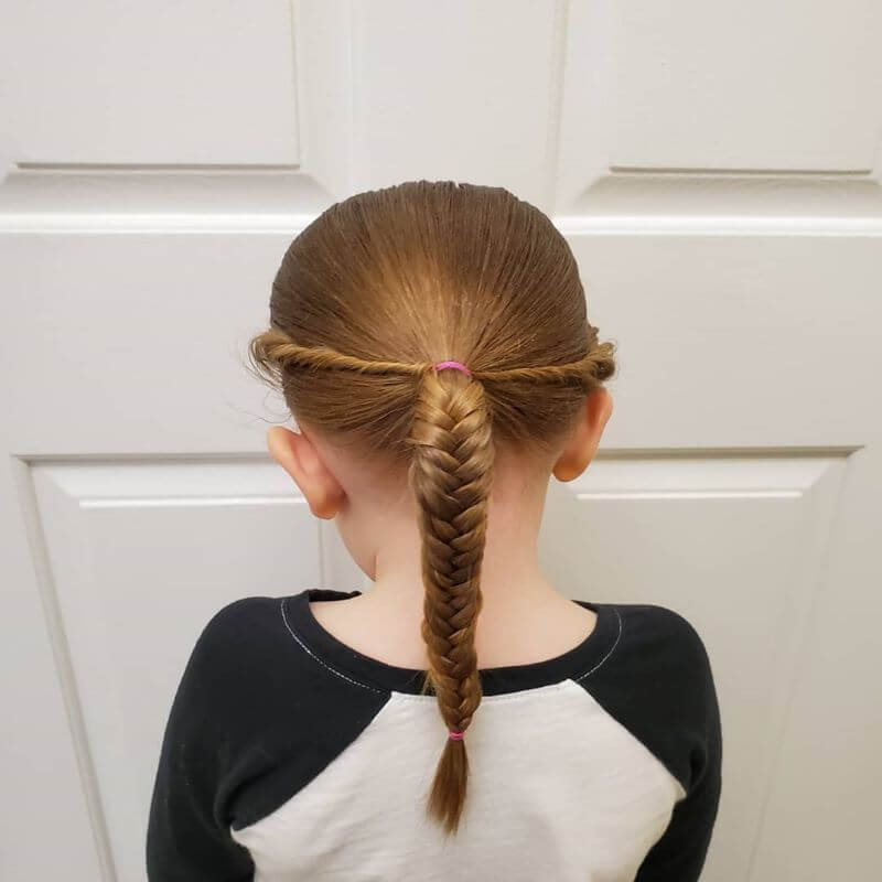 Low Twisted Crown With Fishtail Braid