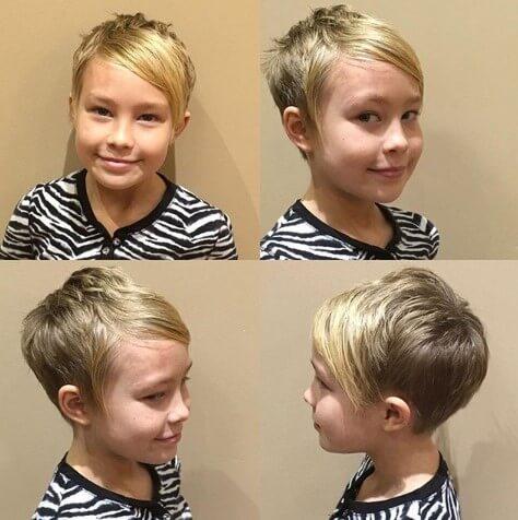 Short Hair With Slicked & Angled Fringe