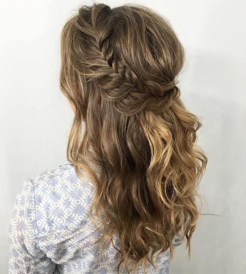 Beachy Hair With Romantic Braid