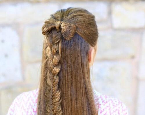 Bow & Fishtail Braid