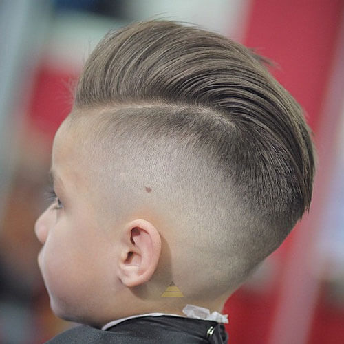 Boys Pomp With High Skin Fade